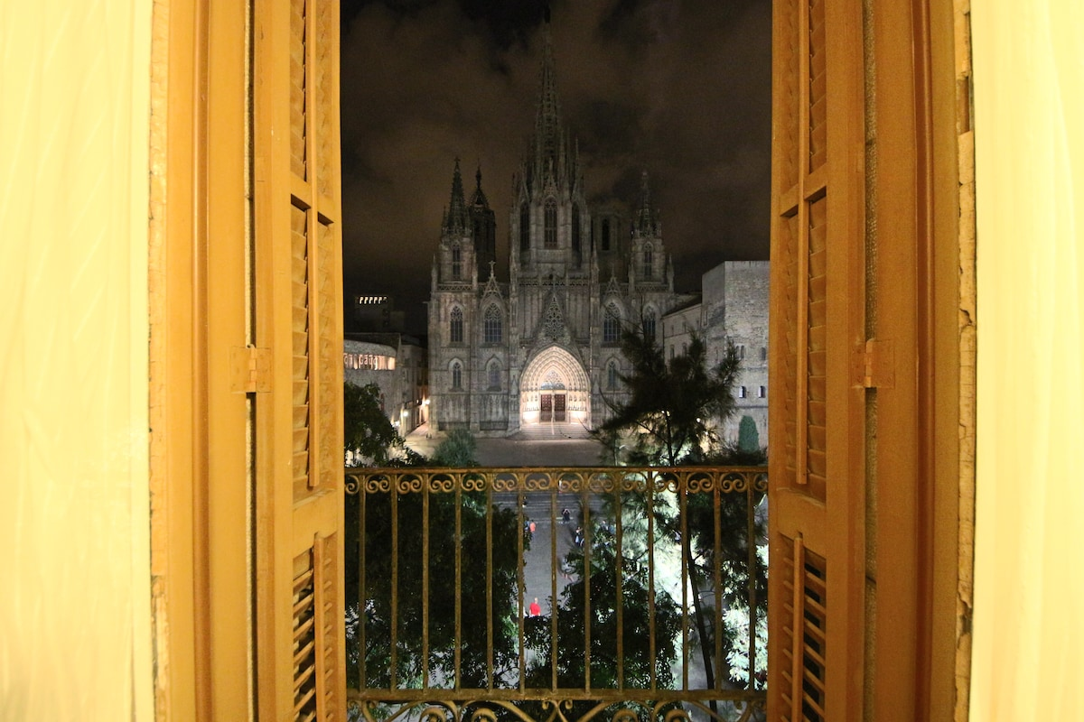Exclusive view to the Cathedral of Barcelona