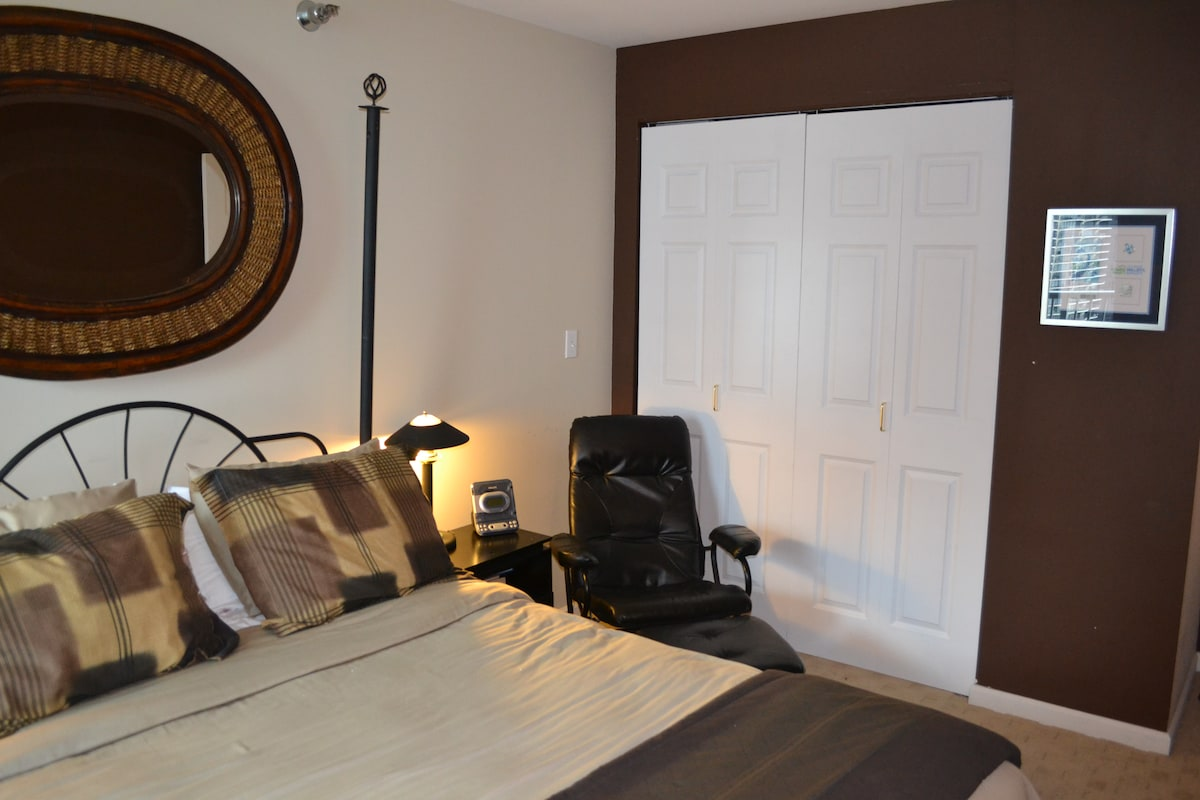 Bedroom, well appointed, ample closet space