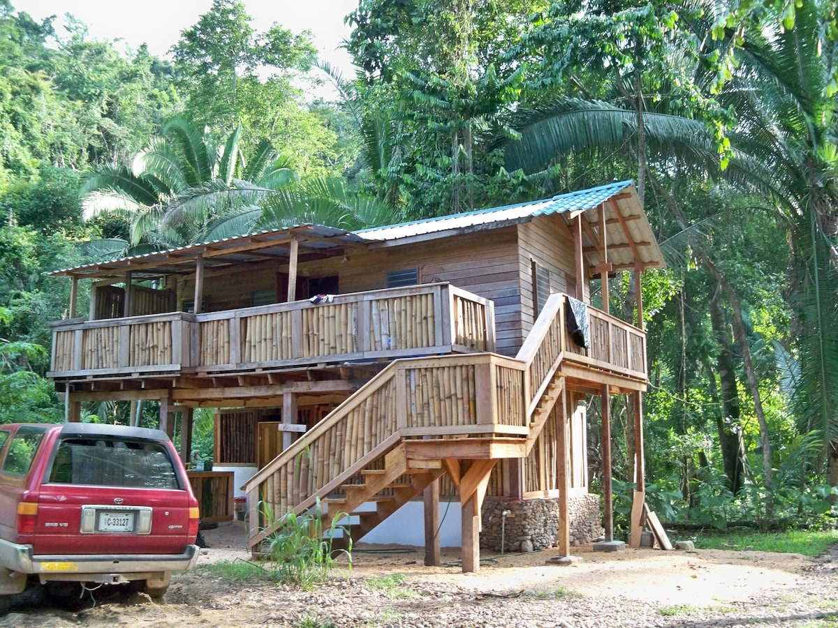 Exterior view of the Etho-House! Note the spacious verandah!