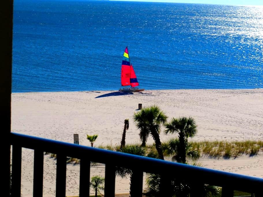 Top Floor 2BR@2BA Beachfront Condo  --  No Fees - Pass Christian - Condo