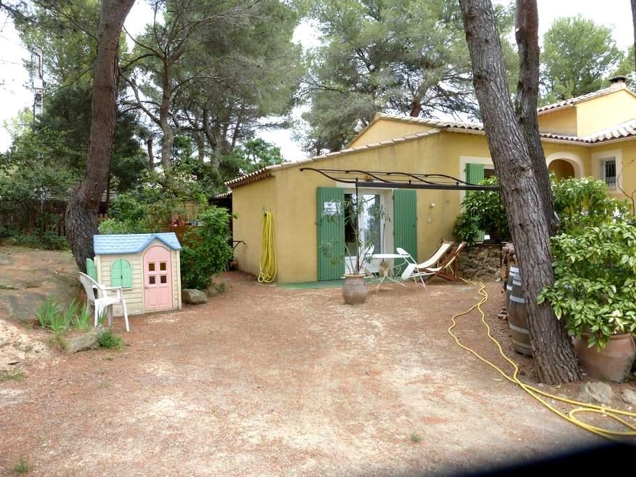 Studio dans les pins,sur la colline - Beaumes-de-Venise