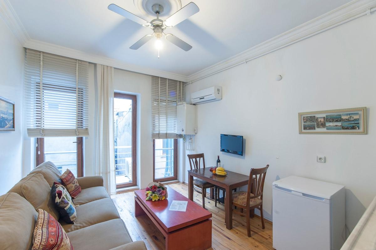 Taksim One-Bedroom Flat w Balcony