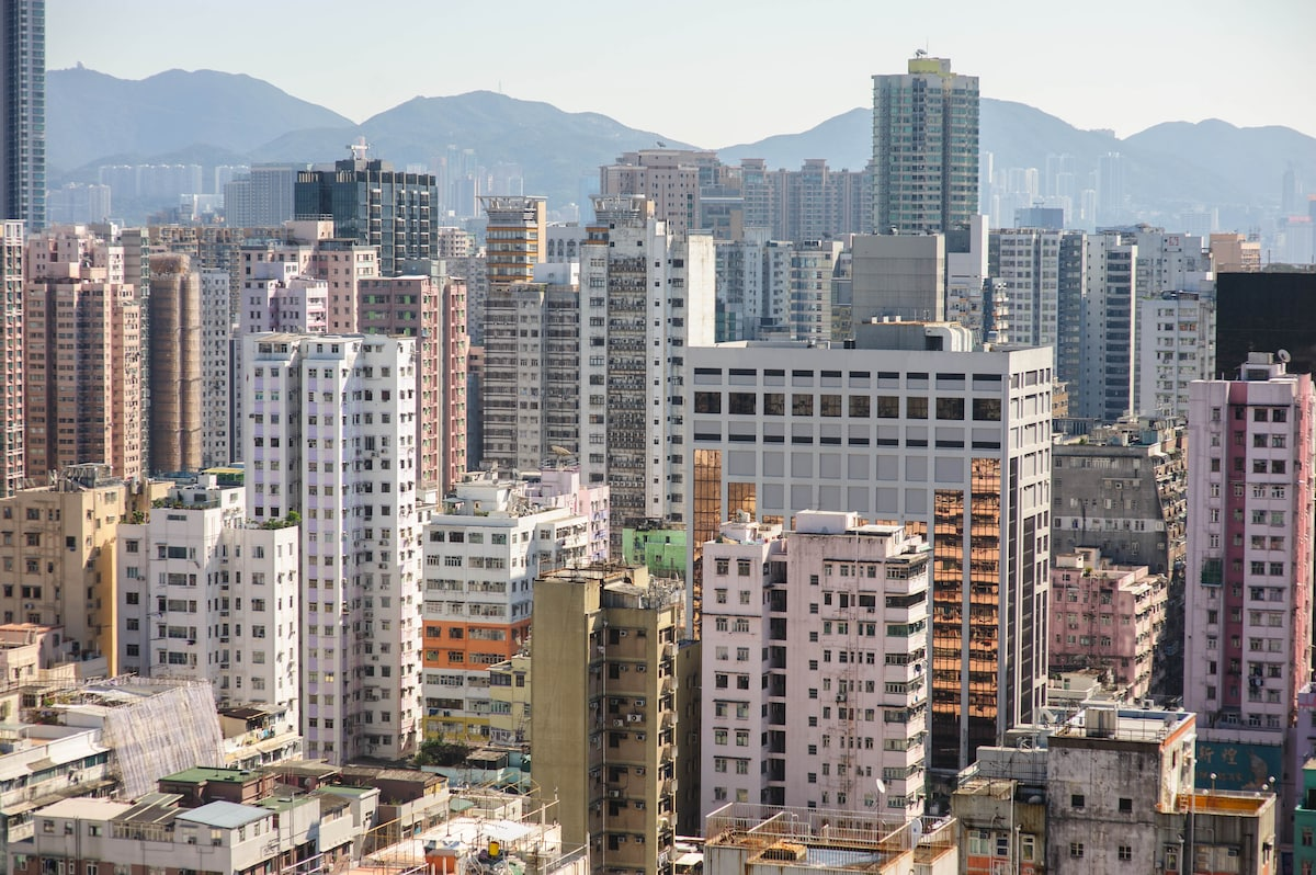 Mong Kok, the most densely populated neighbourhood on earth.