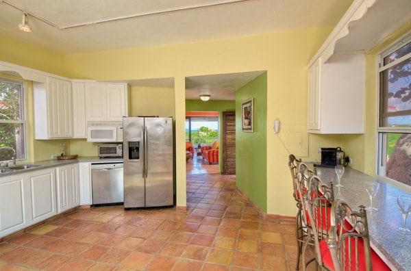 Expansive kitchen gives you dining options
