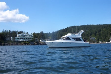 Yacht on Charter in the San Juan's