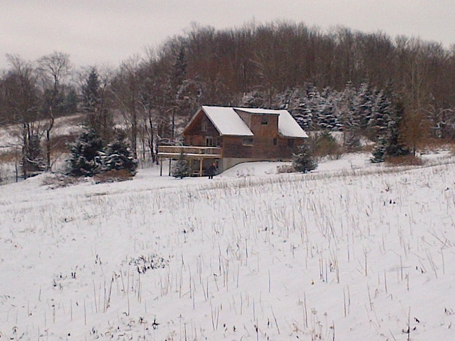 cross country skiing and snow shoeing on trails surrounding the house
