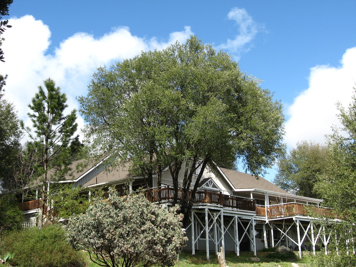 Sierra Mountain Lodge has 6 private suites & beautiful mountain views!