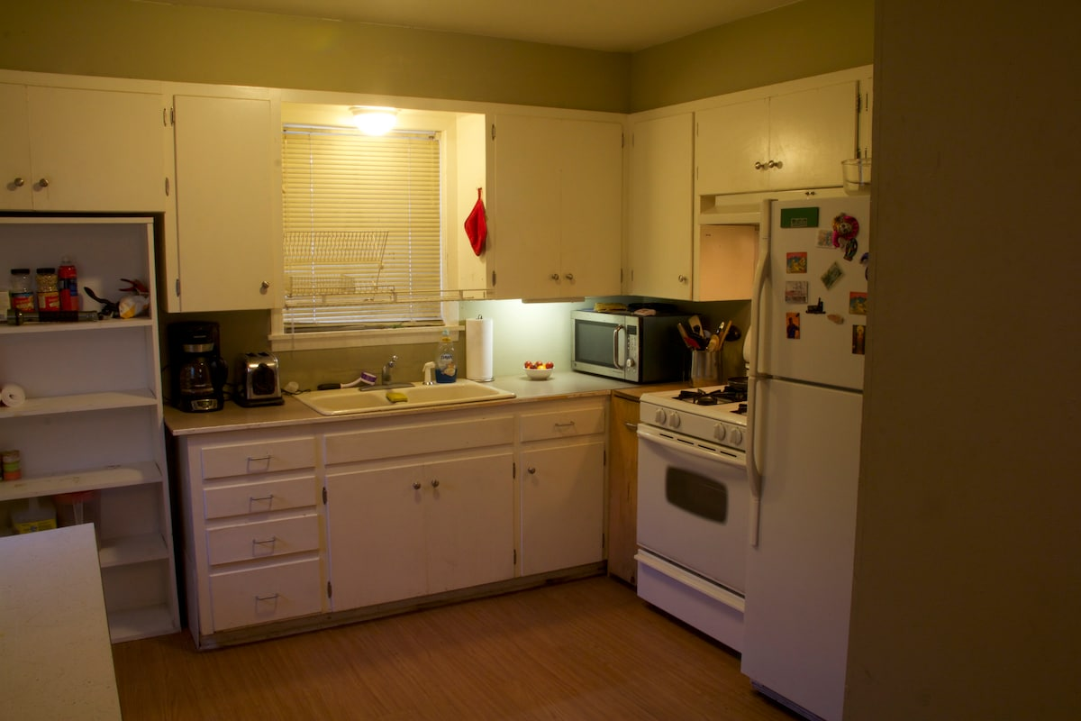 Full sized kitchen  should you decide to dine in
