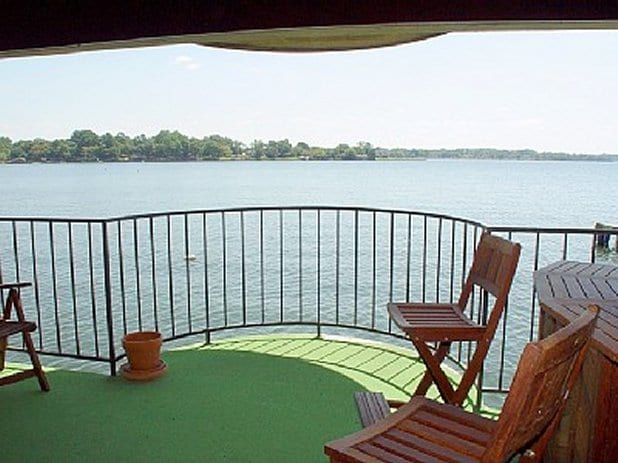 """Private Balcony Hangs Over the Water and Features a """"Three Mile"""" View across Lake Conroe!"""