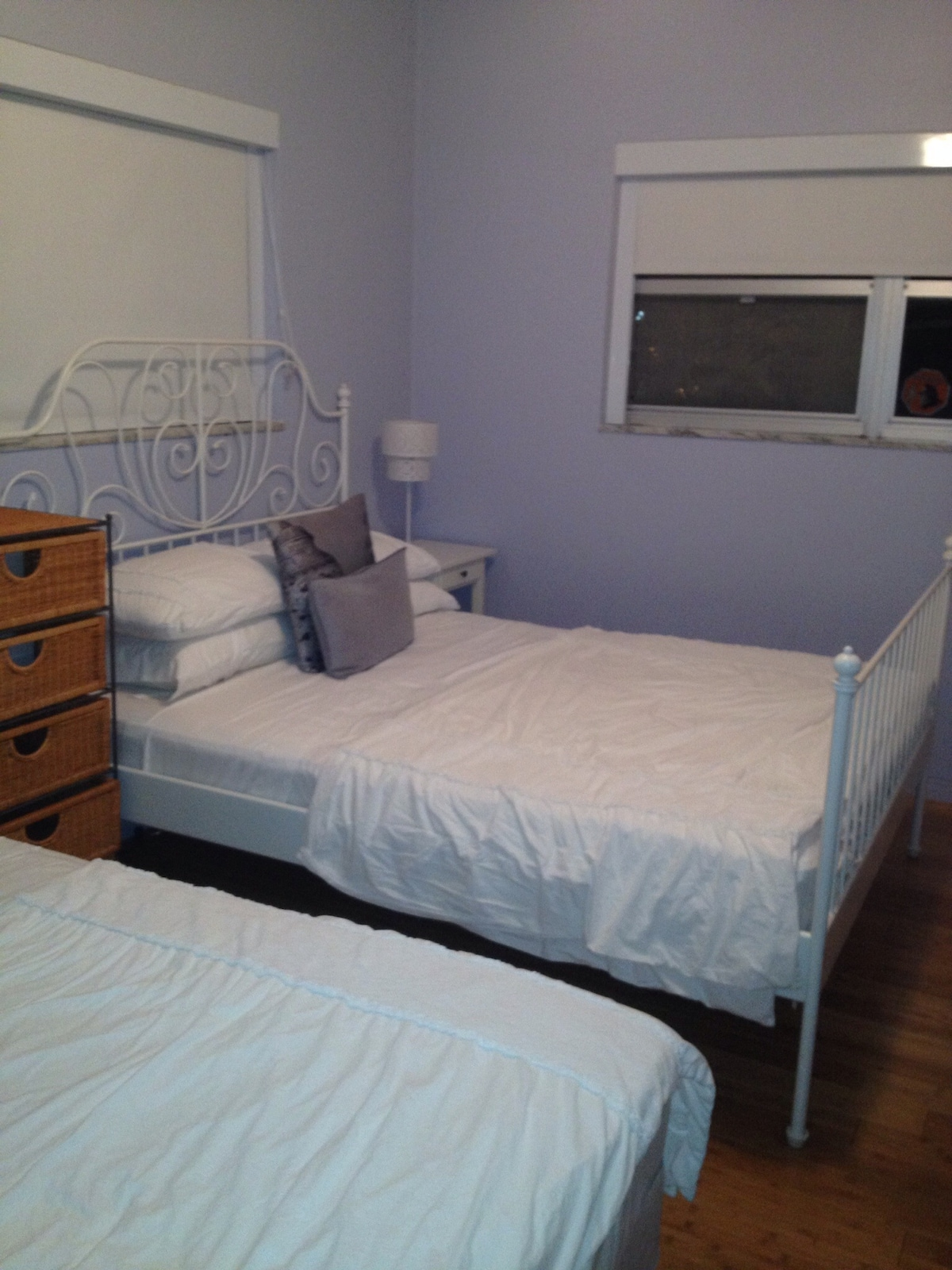 Other view of two double beds