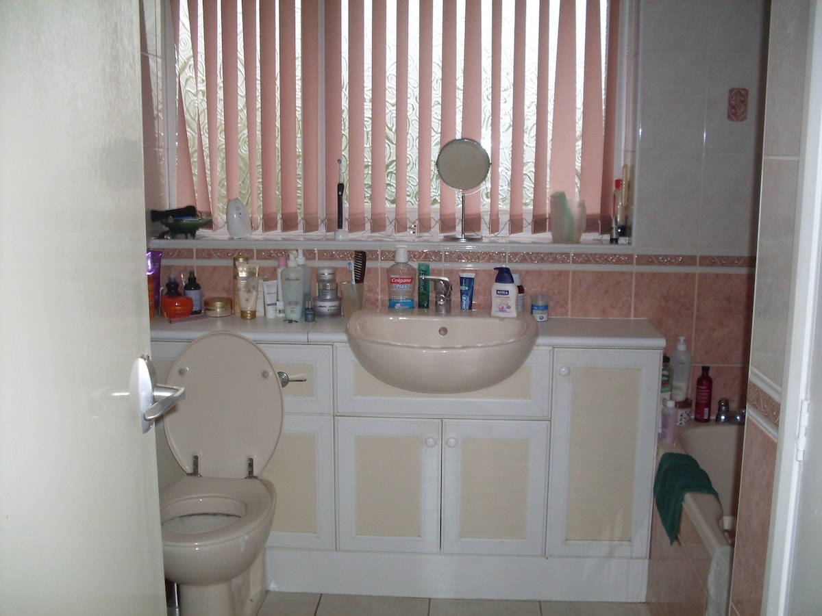 Fully equipped large bathroom with sink toilet and walk in shower. Downstairs cloakroom with toilet and sink also available.