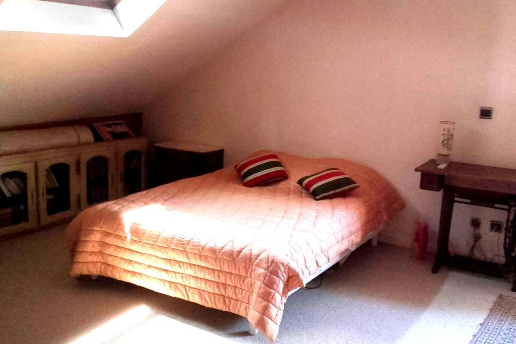 Grande chambre avec salle de bain privative - Saint-Max - Huis