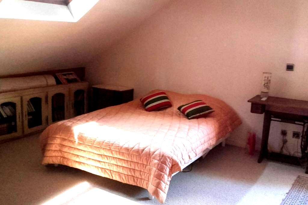 Grande chambre avec salle de bain privative - Saint-Max - House