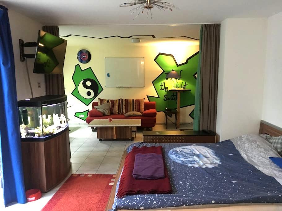 Cozy room in Kaiserslautern with private kitchen - 凯泽斯劳滕(Kaiserslautern) - 公寓