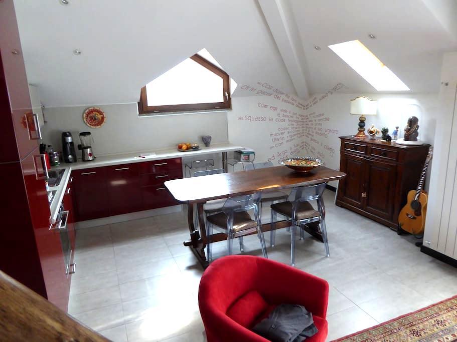 Modern mansard with loft - Bieno - Bed & Breakfast