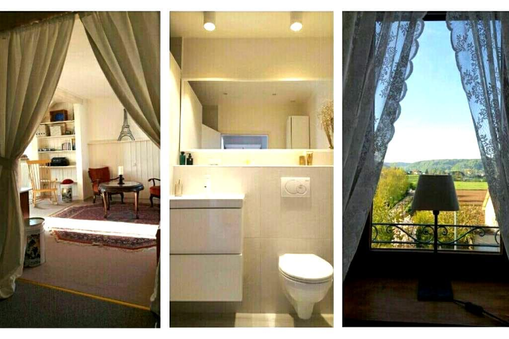 Fully renovated floor w/ private bath & breakfast - Mersch - Villa