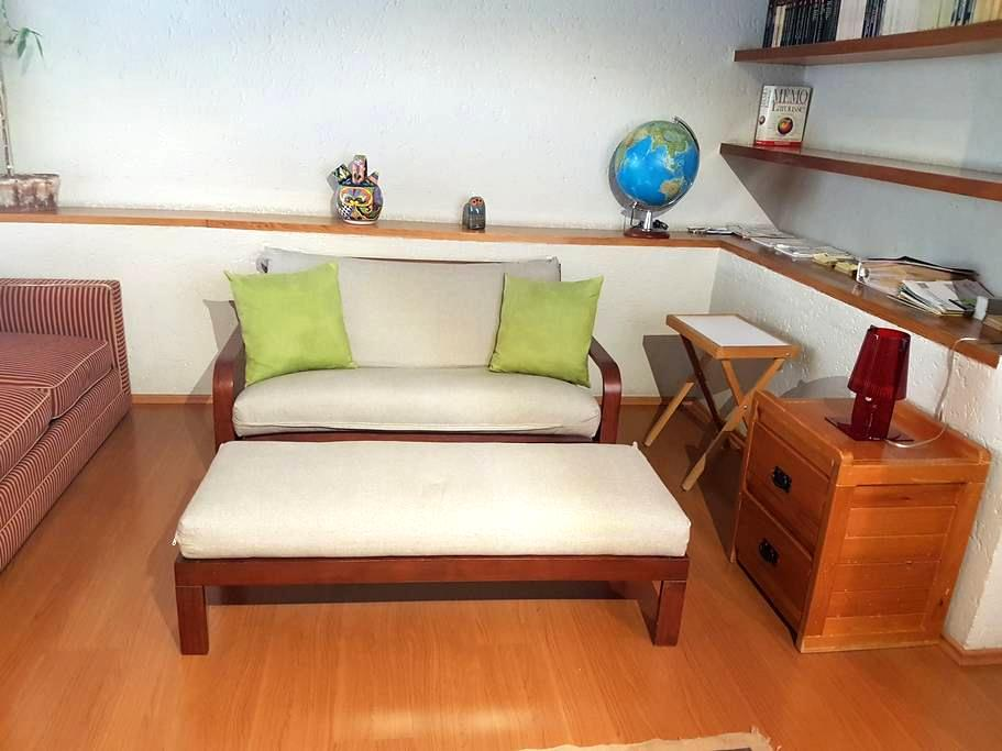 Twin bed, bathroom, closet, internet, TV, desk. - Ciudad de México - Dom