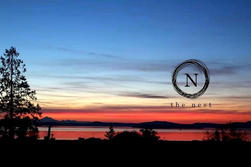 """The Nest"" - private ocean view suite - Saanichton - Appartement"