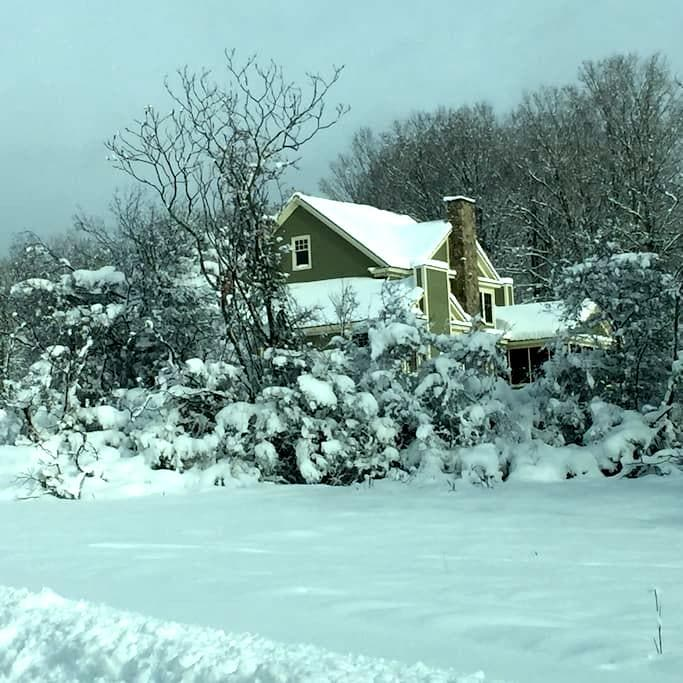 Large cozy home on 26 private acres - Shaftsbury - Hus