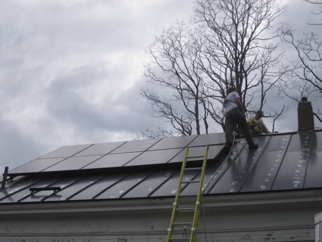 Our house is powered by solar electricity.