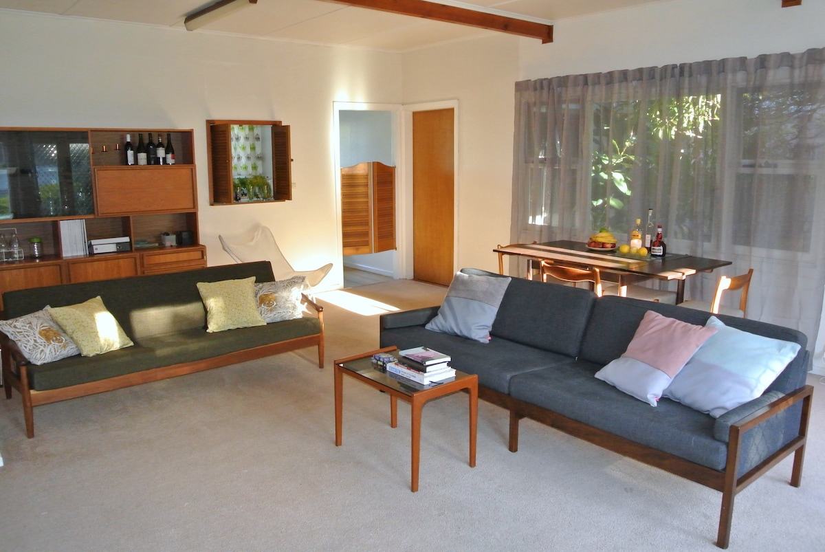 Living room includes 2 single sofa beds.