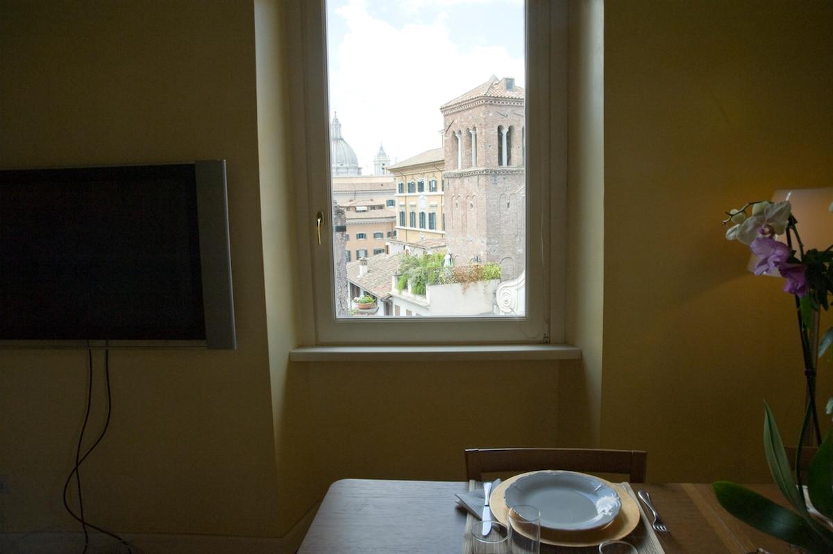 Appartamento al Pantheon con vista