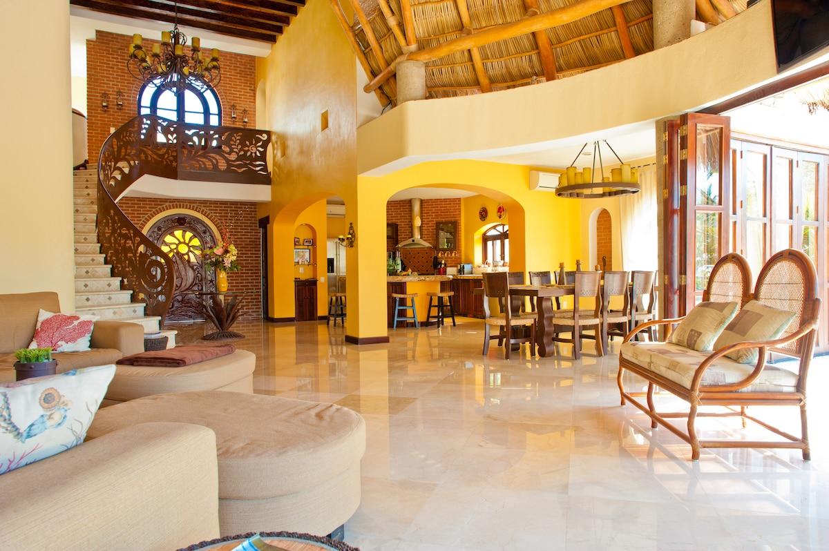 Gated Villa- Nuevo Vallarta w/ dock