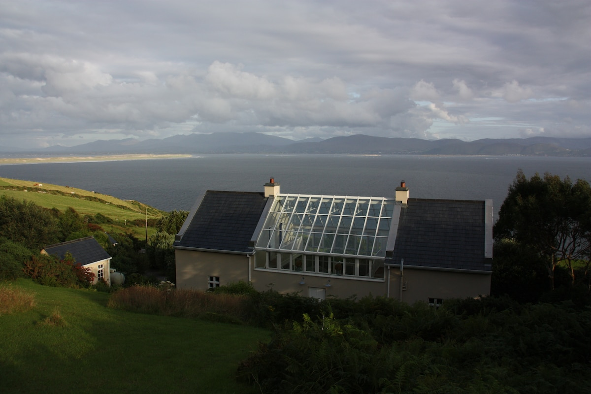 Up the hill with views over Dingle Bay