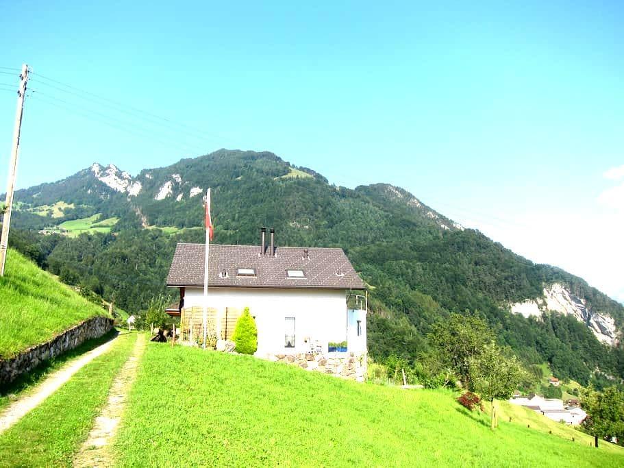 Grosses Zimmer mit schöner Seesicht - Gersau - Dům