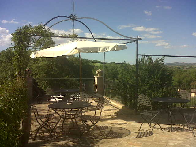 the dining corner on the terrace
