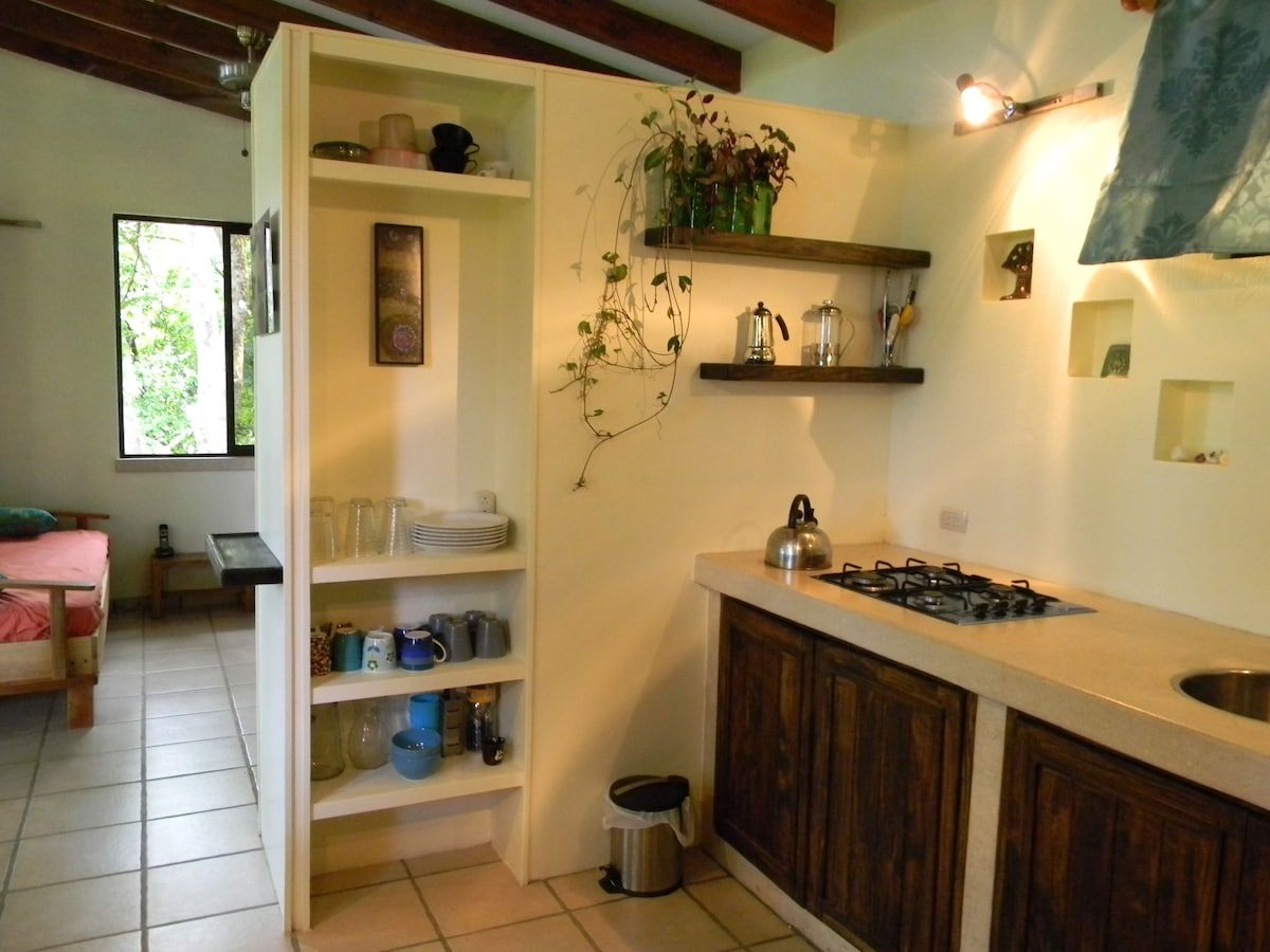 Very efficient kitchen has everything you need.