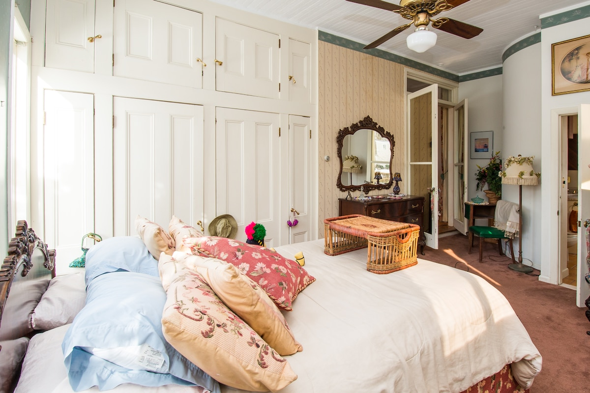 master bedroom/double height closets & storage