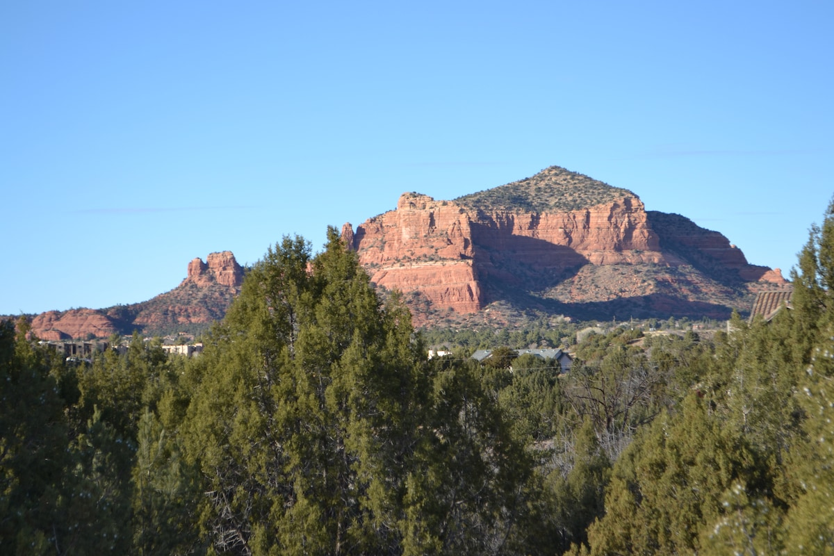 Red rock views from the property