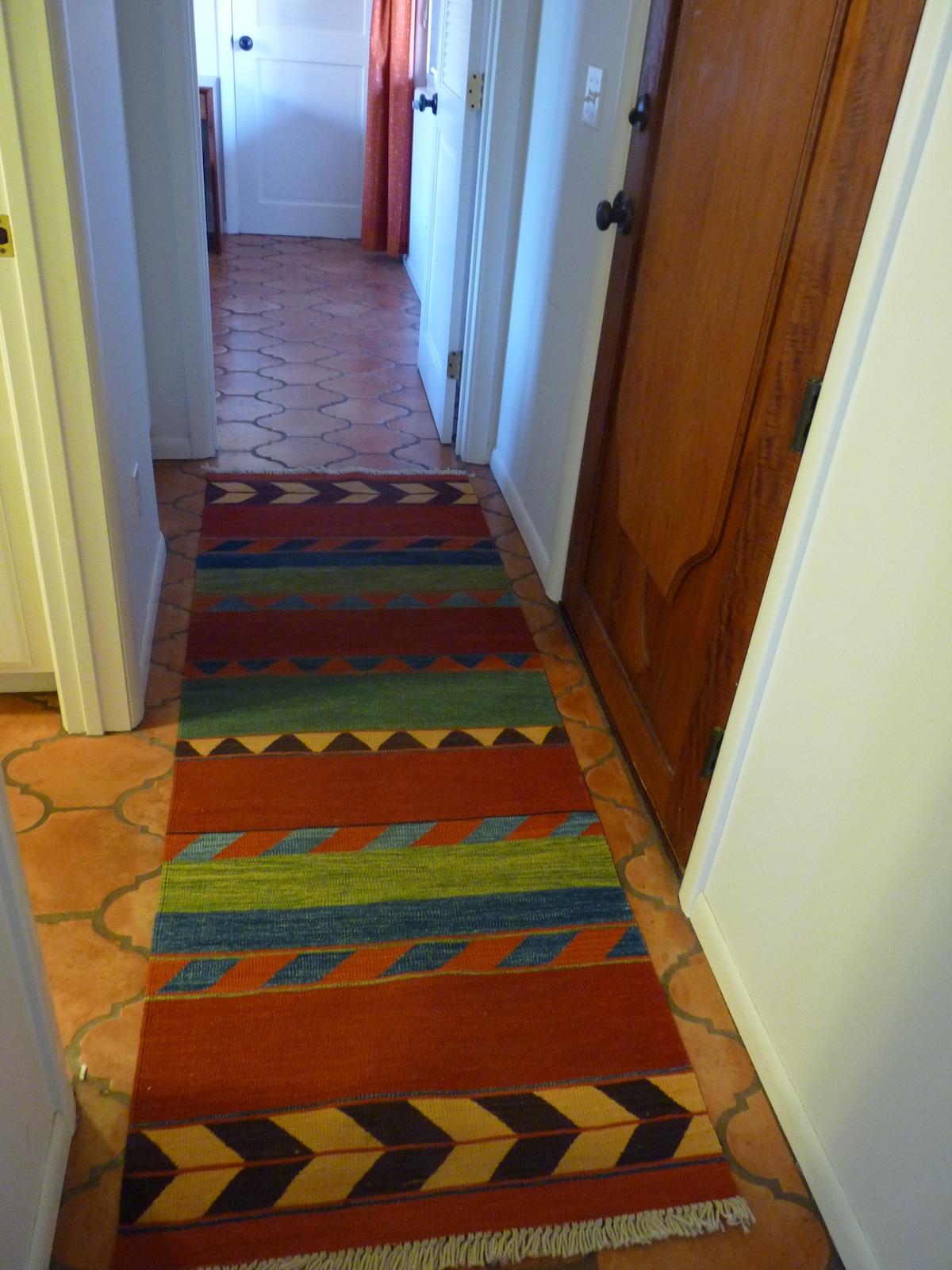 hallway between bedrooms
