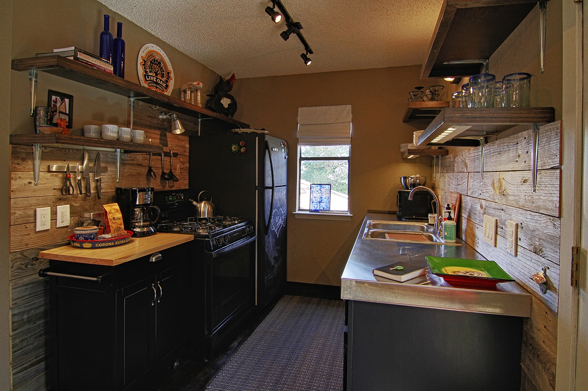Kitchen is fully equipped with everything you need to cook for family and friends.