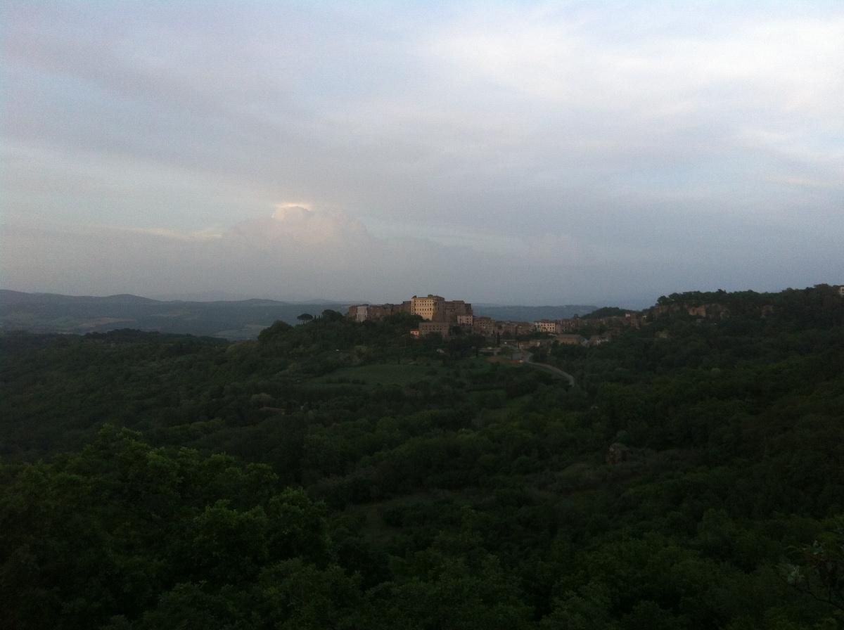 View of Bomarzo from Montecasoli