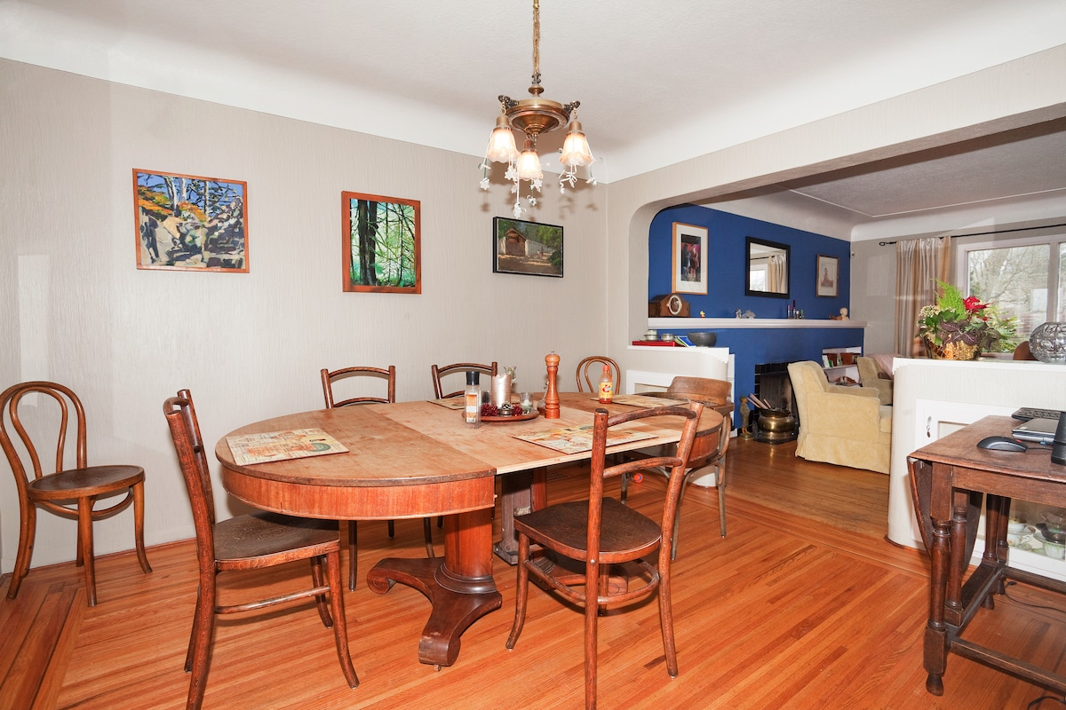 The dining room which we use almost every day