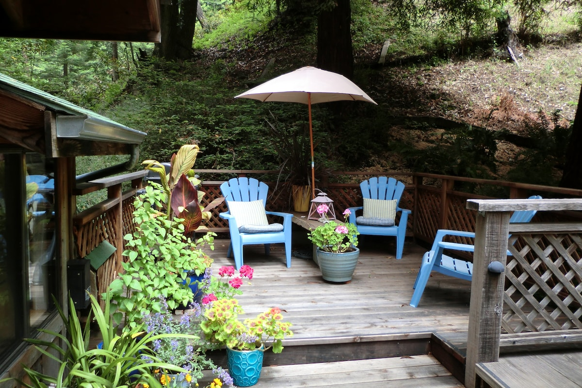 Private deck area for this cabin