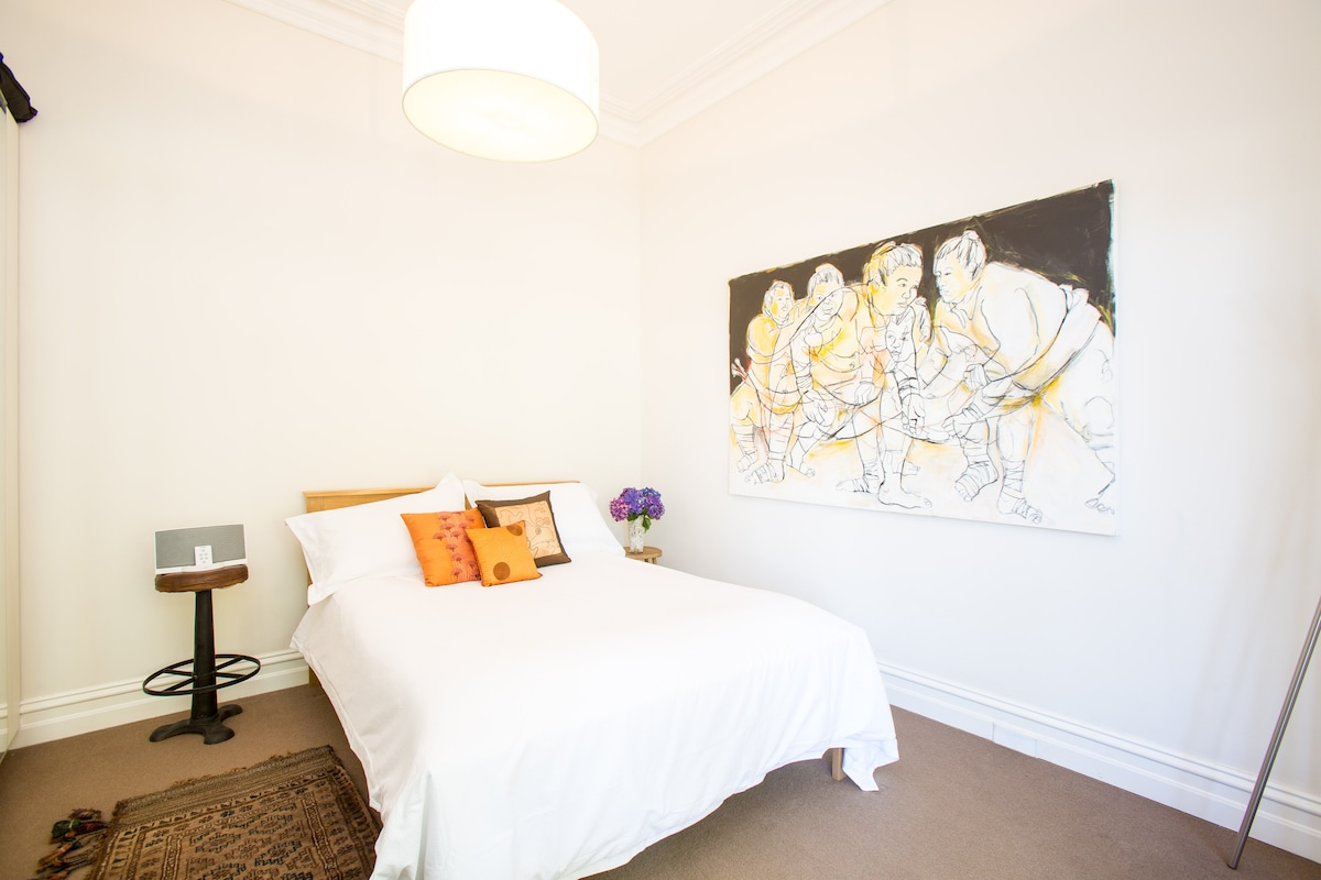 Large, light filled double bedroom with very large wardrobes and personal space.