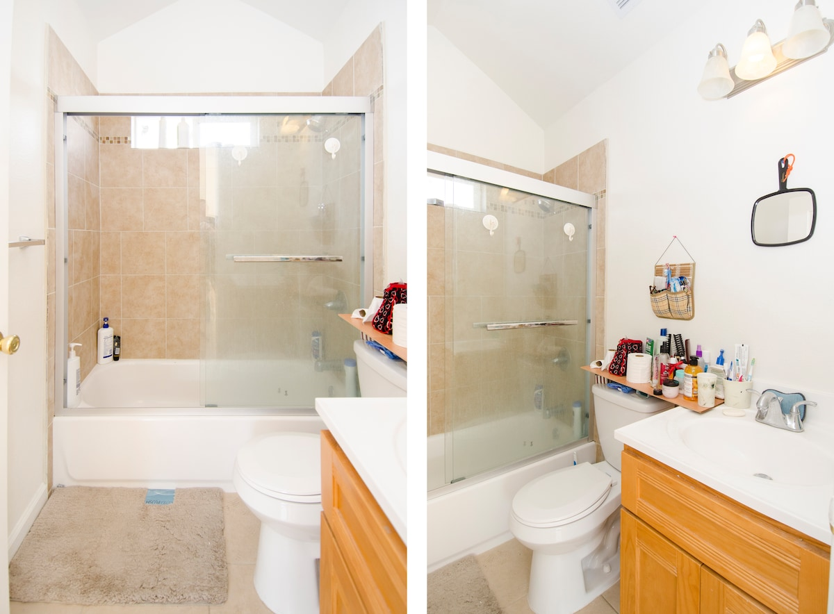 Shared Bathroom: Newly Renovated, Clean and Nice.