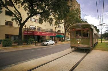St Charles Streetcar out front