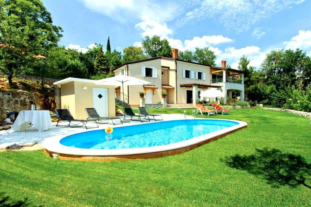 Sea view Villa with pool - Lovran, Opatija - Dobreć