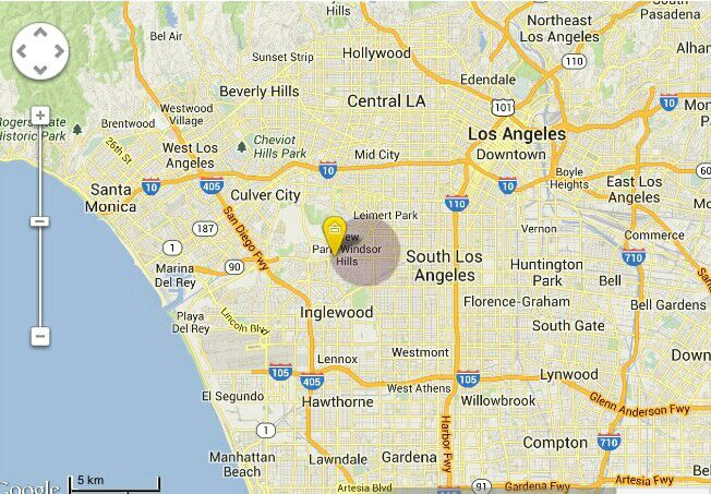 Very centrally located. We are directly in the middle of all of Los Angeles.