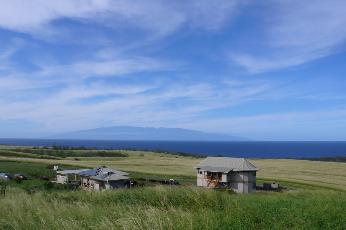 Partial property overview facing Maui and ocean