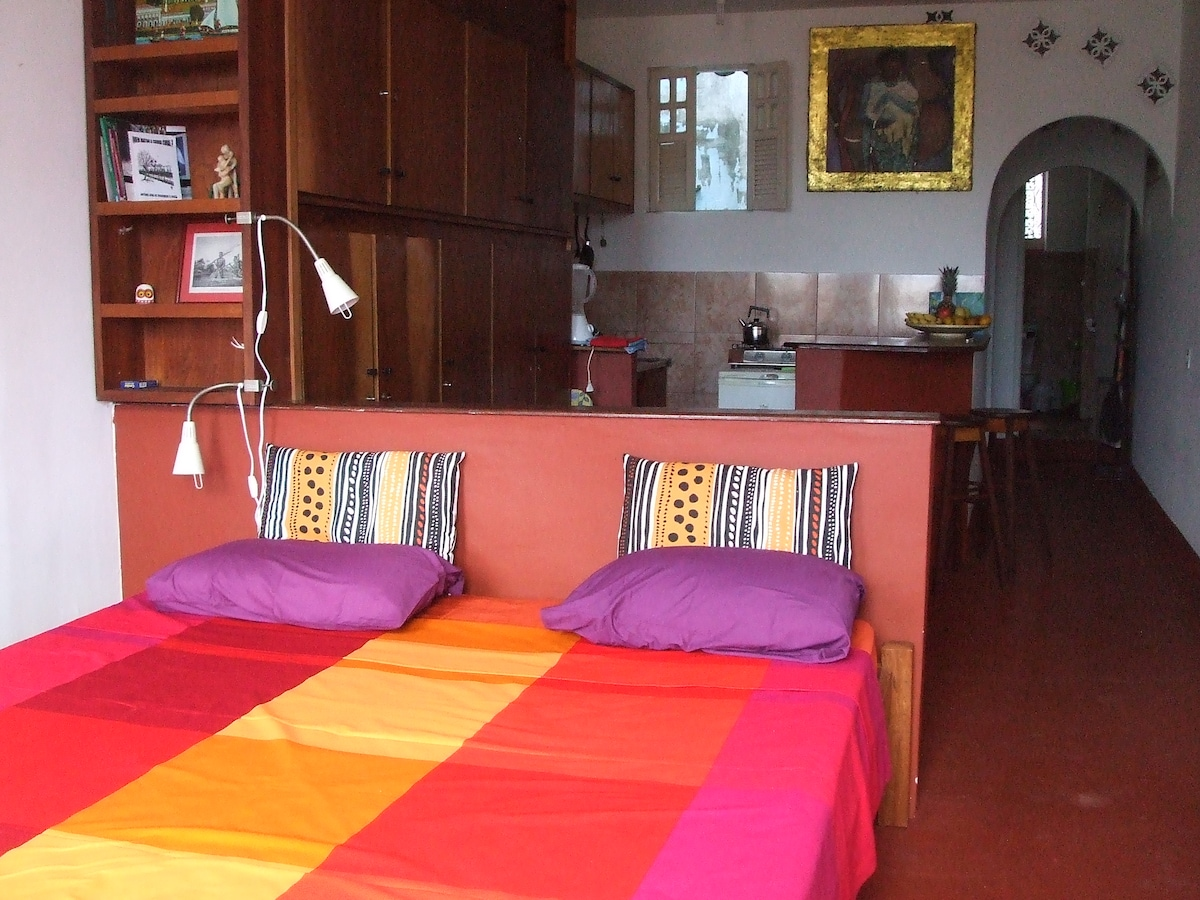 the studio with a king size bed