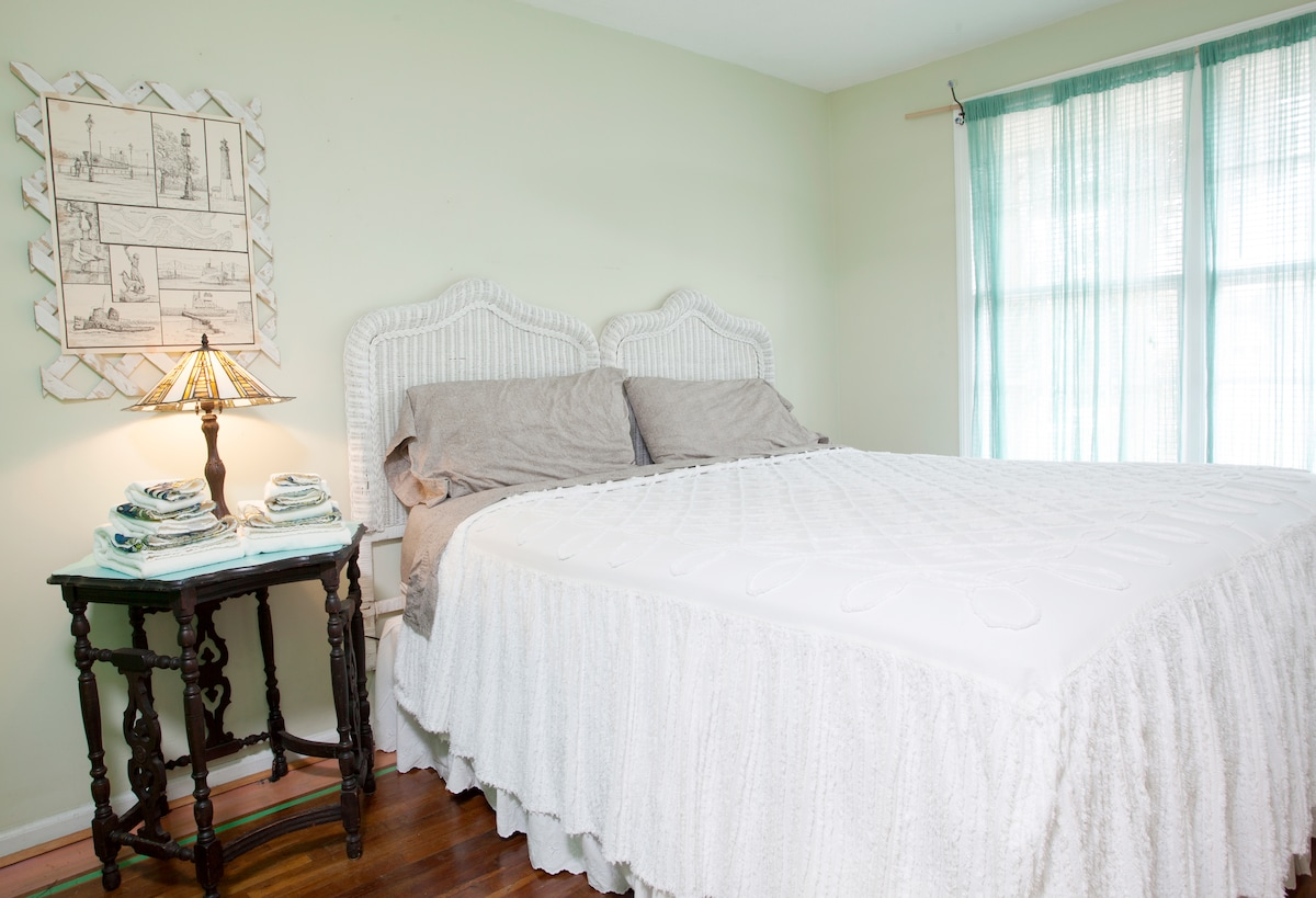 One of your king bedrooms in the two bedroom side.  Comfy!!