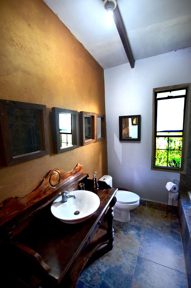 Bathroom with antique sink