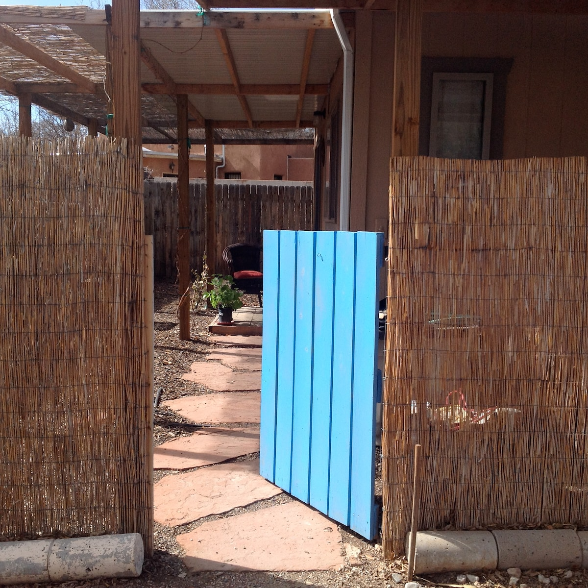 entrance to casita and outdoor living space