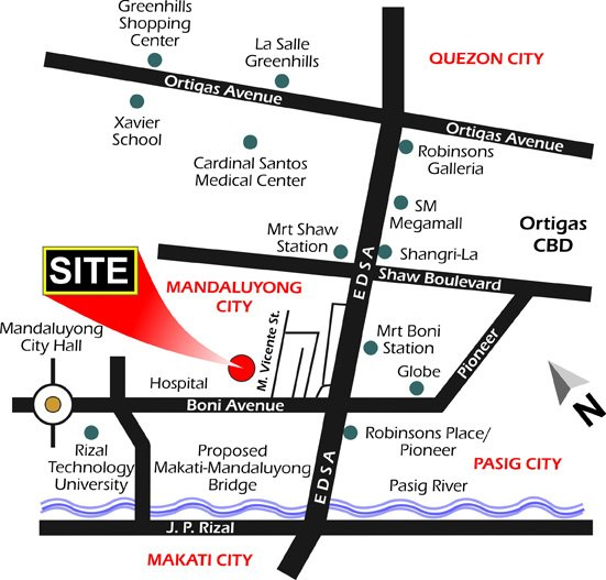 Pinoy Backpackers In Mandaluyong City Metro Manila - Mandaluyong map