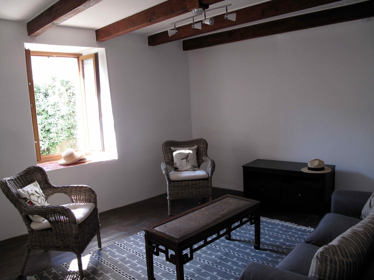 The sunny first-floor living room